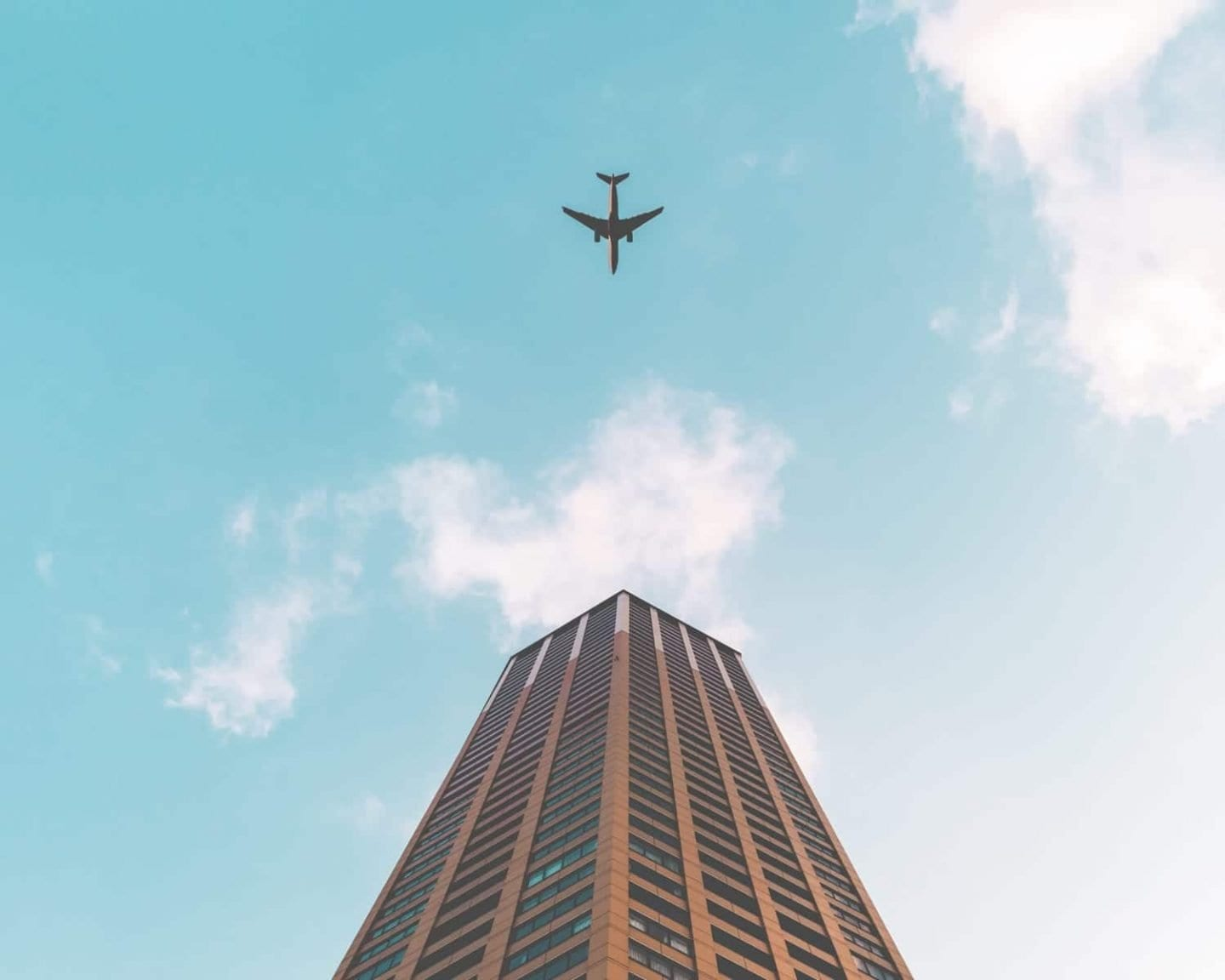 plane over building