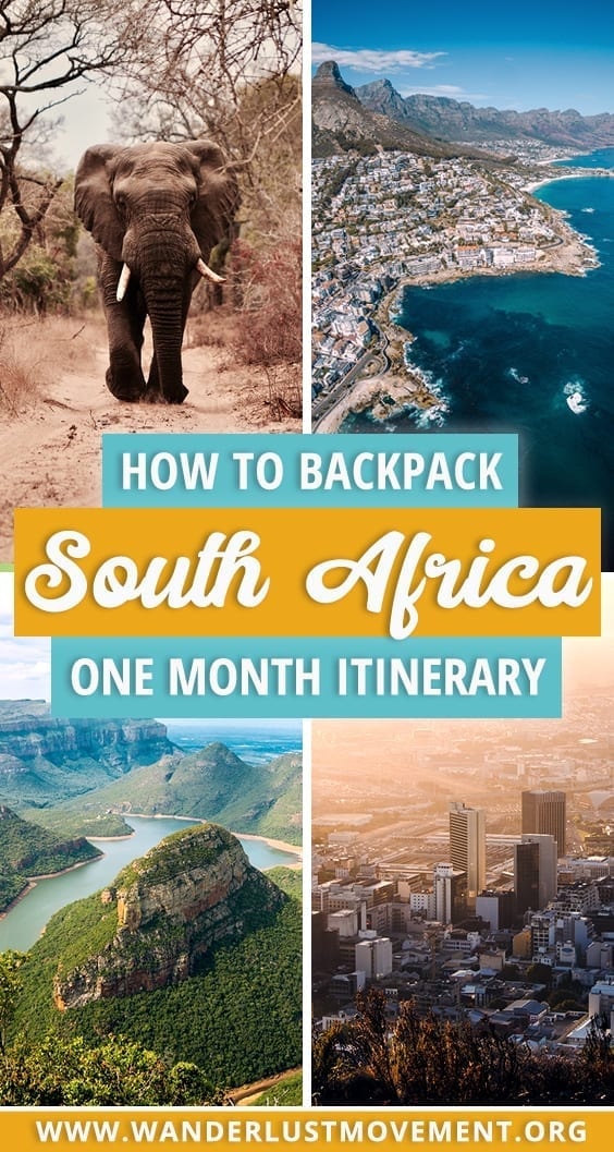 Backpacking South Africa | Planning a one-month backpacking trip across South Africa? Follow my itinerary that starts in Johannesburg, and ends in Cape Town with loads of travel tips from a local. | South Africa travel | South Africa itinerary | backpacking tips | South Africa travel tips | #southafrica #backpacking #southafricatraveltips #traveltips