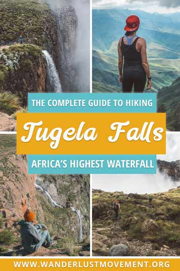 Planning a trip to South Africa? Head to the Drakensberg and tackle the Tugela Falls hike! It will take you to the mouth of the highest waterfall in Africa and reward you with breathtaking vistas of the Drakensberg mountains. | Hiking Travel Tips | Hiking Travel Destinations | South Africa Travel Tips | Hiking South Africa #southafrica #hiking #drakensberg #tugelafalls