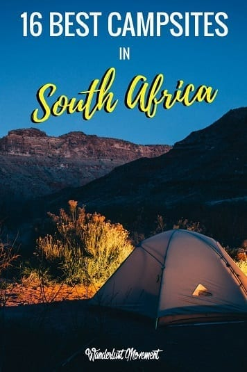 16 Of The Best Campsites In South Africa | Wanderlust Movement | #southafrica #camping #outdoors #nature