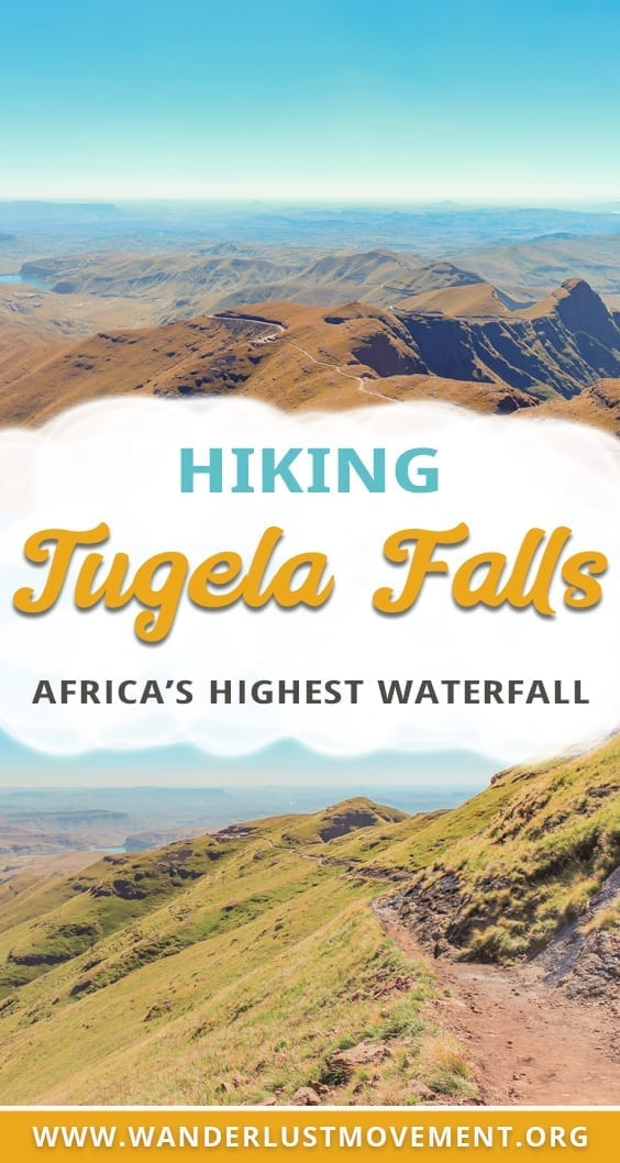 Planning a trip to South Africa? Head to the Drakensberg and tackle the Tugela Falls hike! It will take you to the mouth of the highest waterfall in Africa and reward you with breathtaking vistas of the Drakensberg mountains. #southafrica #hiking #drakensberg #tugelafalls