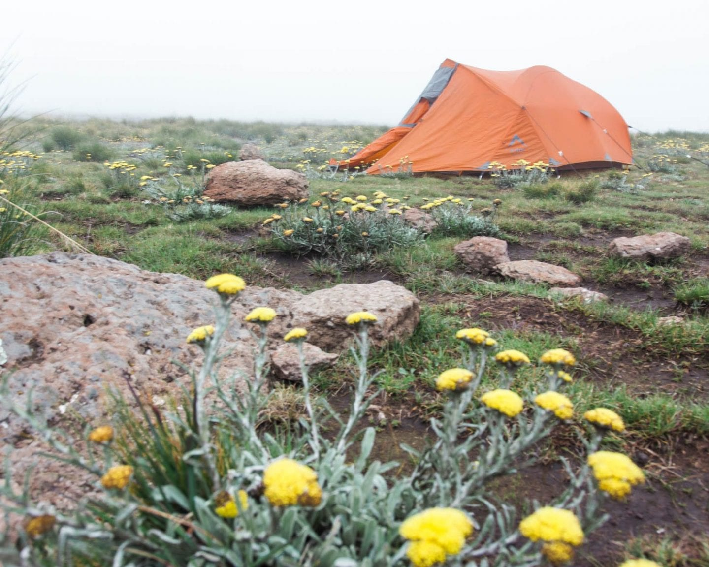 camping on top of tugela falls