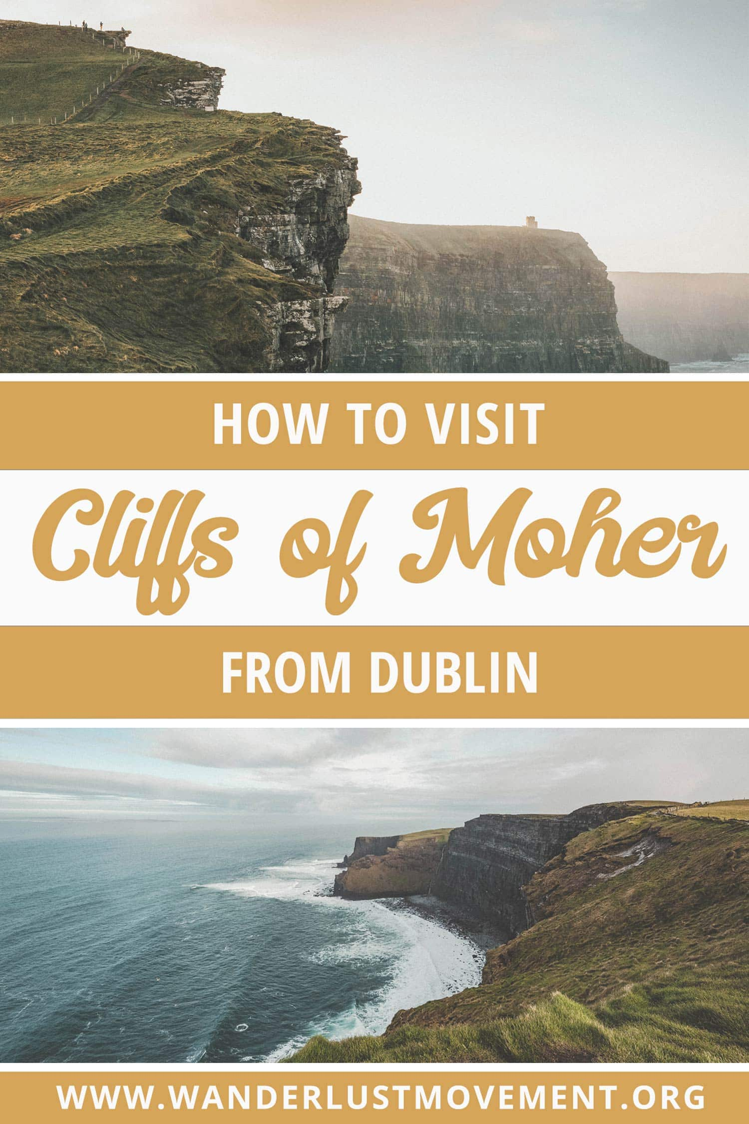 It\'s totally possible to visit Cliffs of Moher from Dublin by yourself. It\'s one of the best things to see in Ireland and is an epic day trip that will see you travelling across the country to see an iconic Harry Potter filming location! In this guide, you\'ll find everything you need to know to plan a trip to Ireland\'s Cliffs of Moher without booking a guided tour. | Ireland Travel Tips | #ireland #cliffsofmoher #roadtrip #europetravel #harrypotter