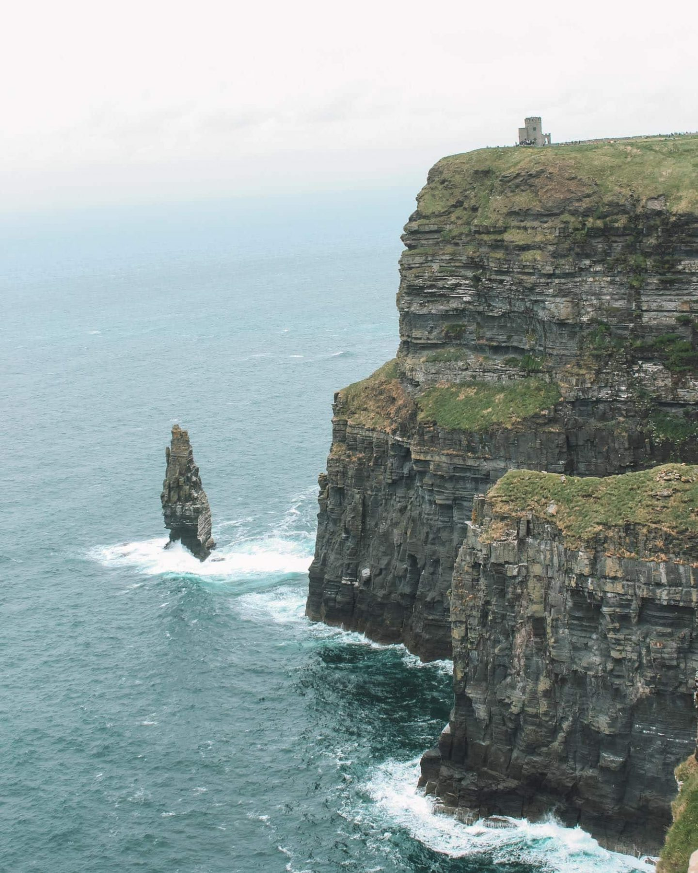 obriens tower at the cliffs of moher in ireland