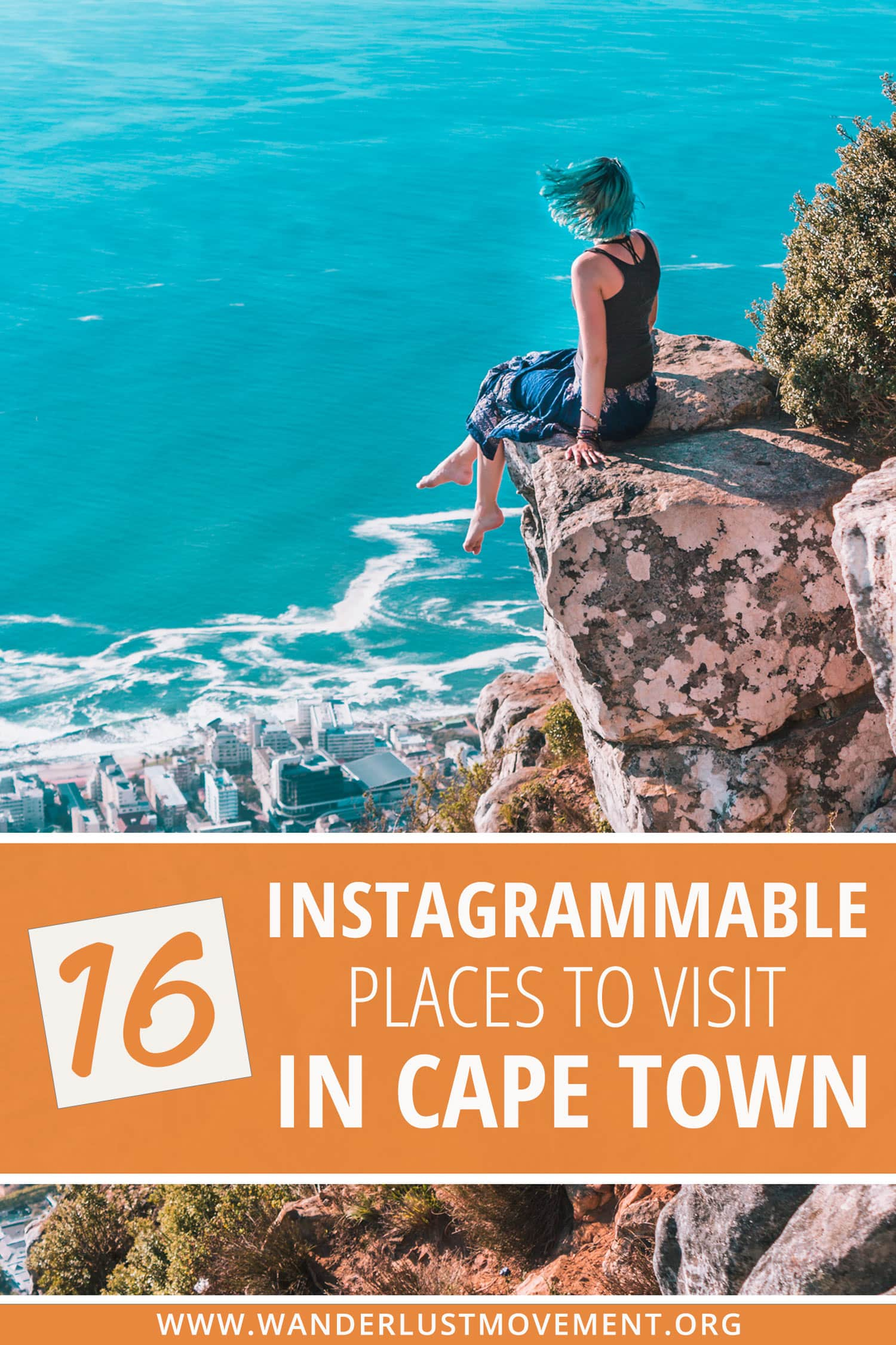Looking for the most Instagrammable places in Cape Town? This ultimate guide to Cape Town\'s most beautiful destinations has you covered! Spend a beach day with penguins, watch the sunset from on top of Table Mountain, hike Lions Head, explore a shipwreck and take a photo at the infamous Surfboard Rock! Here are some of the best things to do in Cape Town to add to your Instagram itinerary! #capetown #southafrica #traveltips #instagram #travelguide #travel