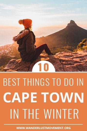 Beat the chill and the crowds and travel to Cape Town, South Africa in the winter! I've put together some of my favourite things to do in Cape Town in the winter that aren't the usual hike Lion's Head or take the cable car up Table Mountain. This travel itinerary includes things like how to see the Milky Way, the best spot for sunset in Cape Town and where to go to see snow!