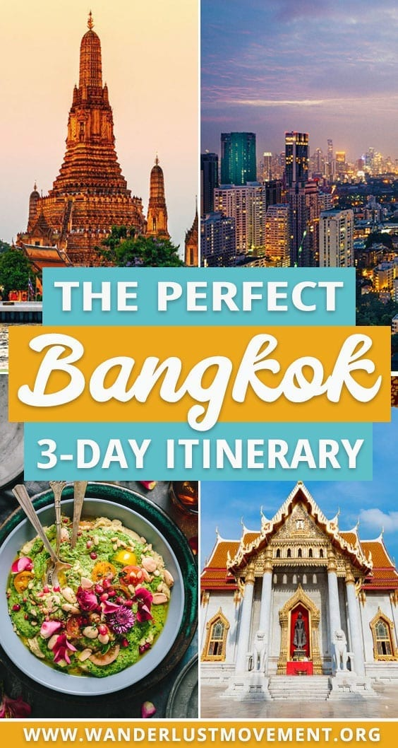 Planning a trip to Bangkok, Thailand? It\'s one of the best city breaks in Southeast Asia for history buffs and foodies! Here\'s my 3-day Bangkok itinerary that includes some of the best things to do in Bangkok and a few hidden surprises! See gorgeous temples and palaces, eat delicious Thai street food, go ghost hunting and hangout with unicorns! | Thailand travel tips | Thailand travel destinations | Bangkok travel | Thailand travel itinerary | #thailand #bangkok #southeastasia #traveltips