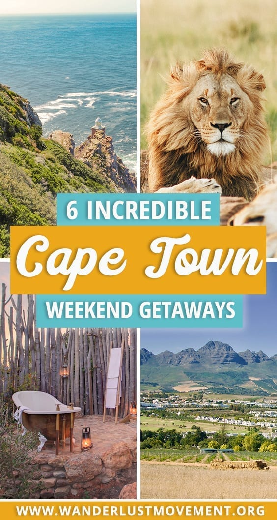 6 Incredible Weekend Getaways from Cape Town