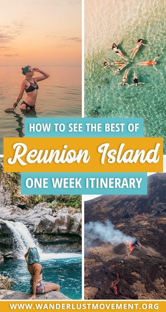 Looking for the ULTIMATE Reunion Island Itinerary? I've got you covered. Fly over a lava-spewing volcano, eat your weight in Creole food and SO much more! Reunion Island | | Reunion Island Travel | Reunion Island Travel Tips | Island Travel Destinations | Island Travel Photography|  #reunionisland #island #traveltips