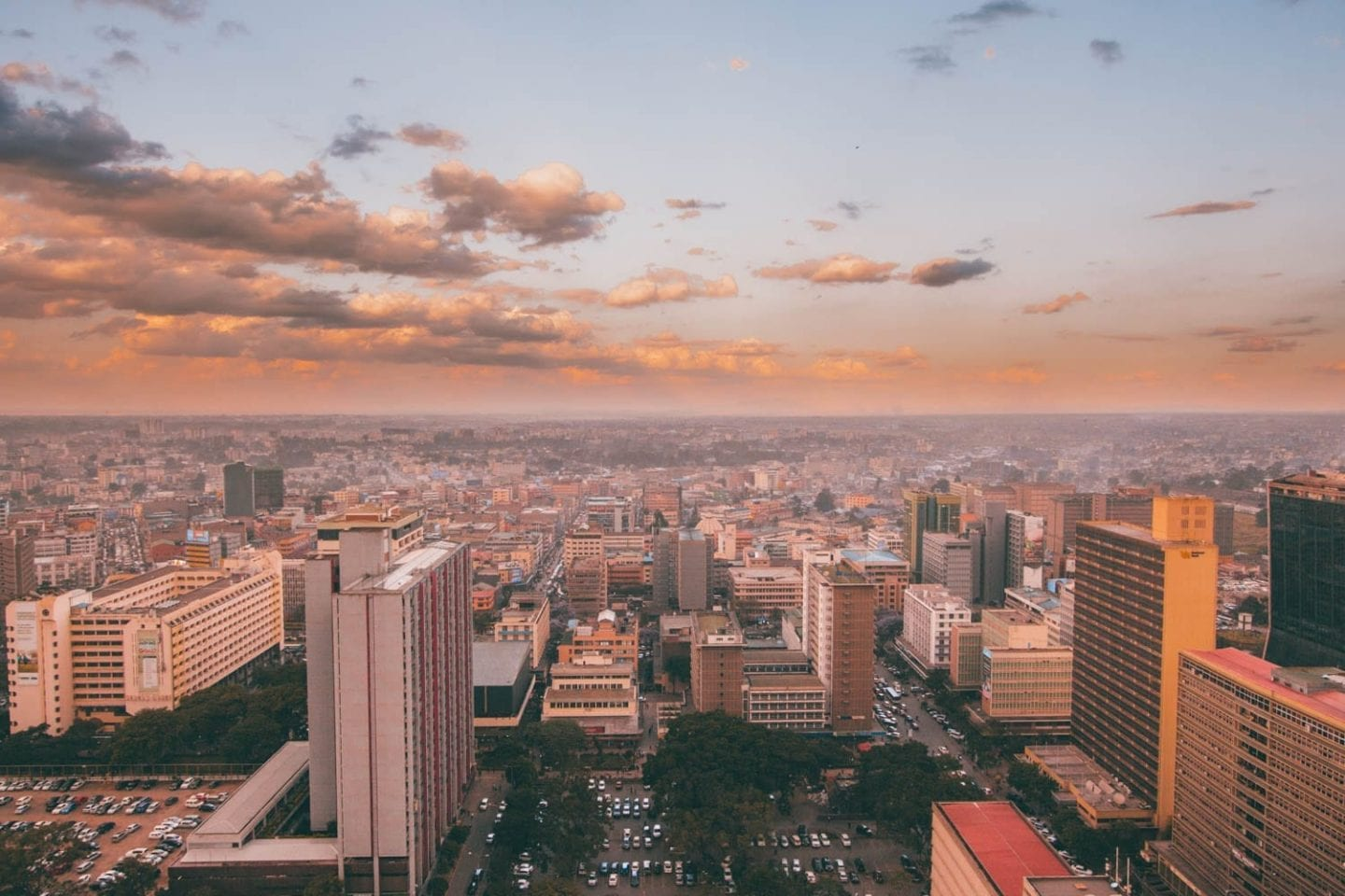 skyline in nairobi kenya