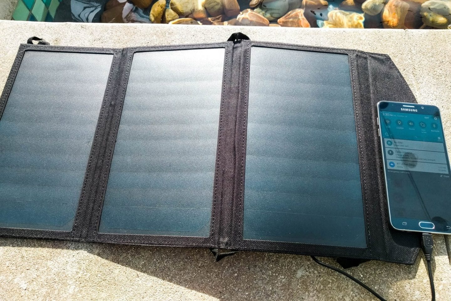 solar panelled power bank