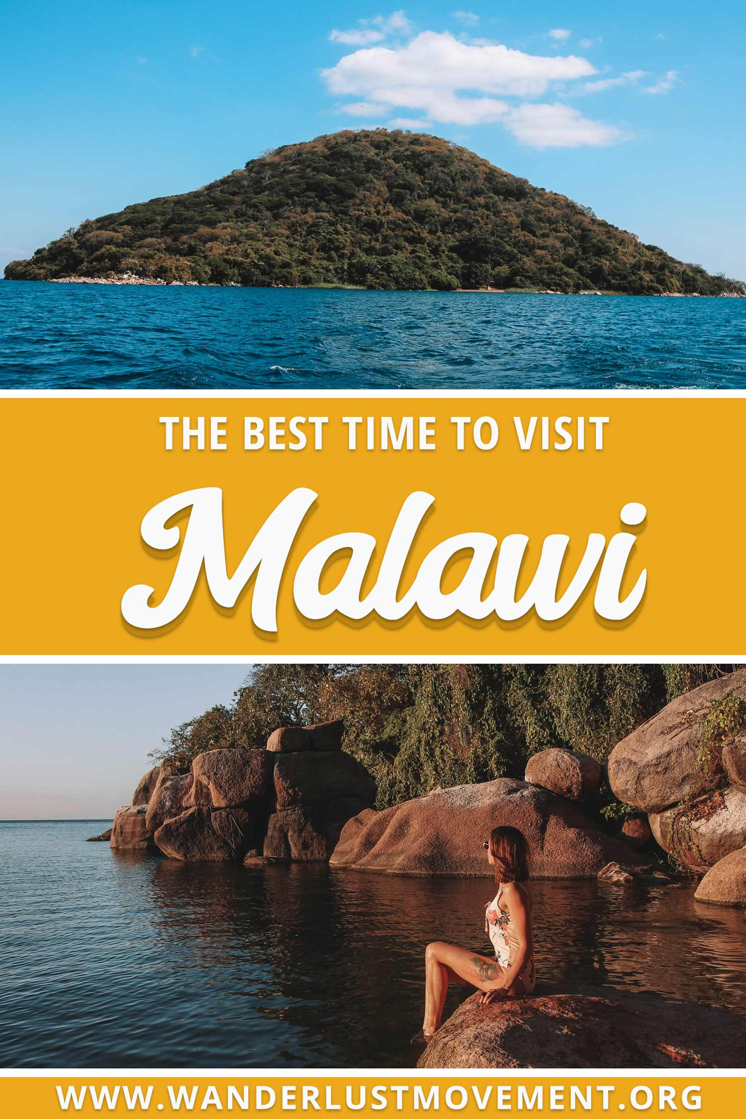 Malawi is an incredible destination in Africa! Whether you\'re looking to plan a Big 5 safari or relax on Mumbo Island in Lake Malawi National Park - there\'s something for everyone. But before you book your flights, you need to take into the account Malawi\'s two distinct seasons. Otherwise, you might visit during the rainy season - the worst time for safaris, but the best time for birding. Here\'s the best time to visit Malawi! #malawi #africatravel