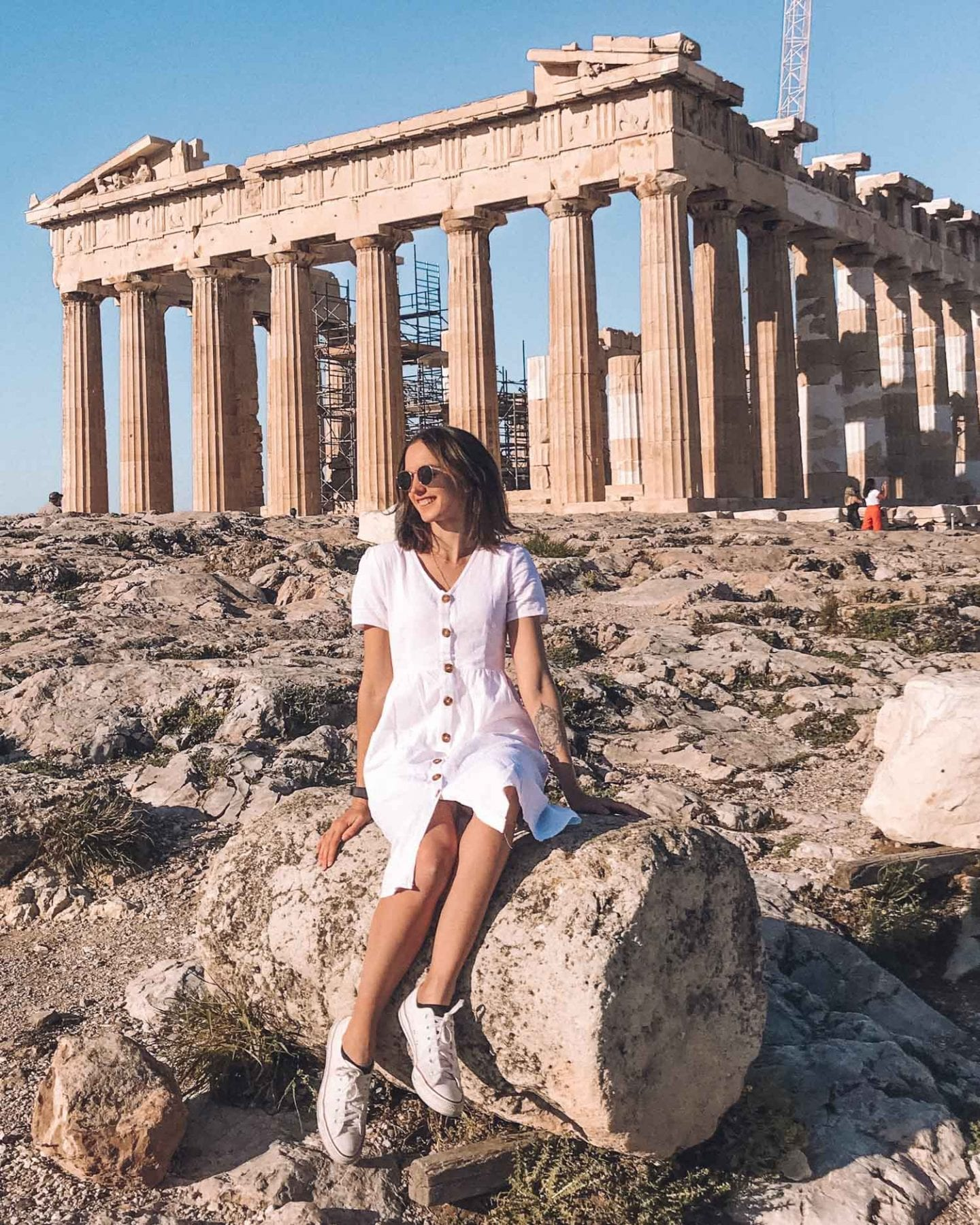 brunette at the acropolis