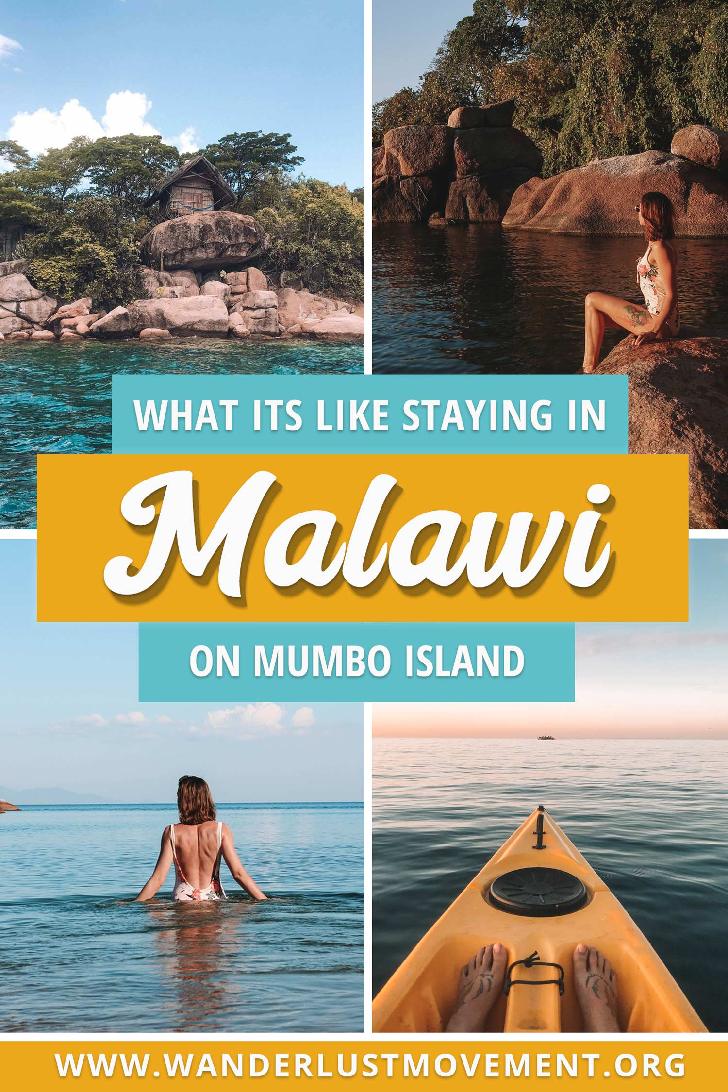 Mumbo Island is located in the middle of Lake Malawi National Park and is one of the top eco lodges in the world. With no WiFi, electricity or cellphone signal, it\'s the perfect destination for adventurous travellers after a digital detox. Here\'s my review on what you can expect! | Malawi Travel Tips | Malawi Travel Guide | Malawi Travel Lakes | Lake Malawi Beach | Lake Malawi Travel | #malawi #lakemalawi #africatravel #mumboisland