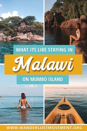 Mumbo Island is located in the middle of Lake Malawi National Park and is one of the top eco lodges in the world. With no WiFi, electricity or cellphone signal, it's the perfect destination for adventurous travellers after a digital detox. Here's my review on what you can expect! | Malawi Travel Tips | Malawi Travel Guide | Malawi Travel Lakes | Lake Malawi Beach | Lake Malawi Travel | #malawi #lakemalawi #africatravel #mumboisland