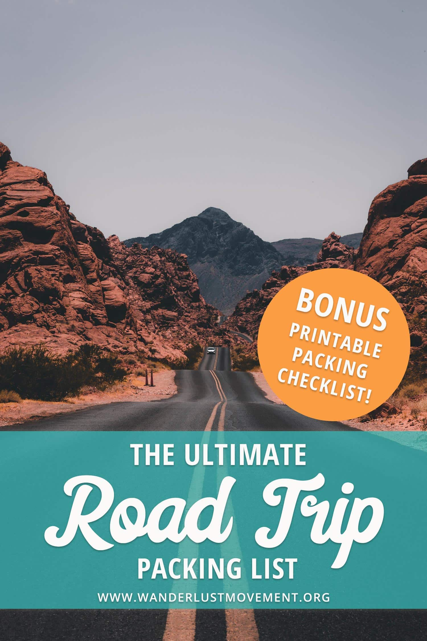 Planning an epic road trip close to home or abroad? Don\'t leave your house without these road trip essentials! Download the free road trip checklist to make sure you don\'t forget your toothbrush or anything else that\'s important...again. | Road Trip Packing | Ultimate Road Trip | Tips for Road Trip | Road Trip Travel | #roadtrip #packinglist #traveltips #travel