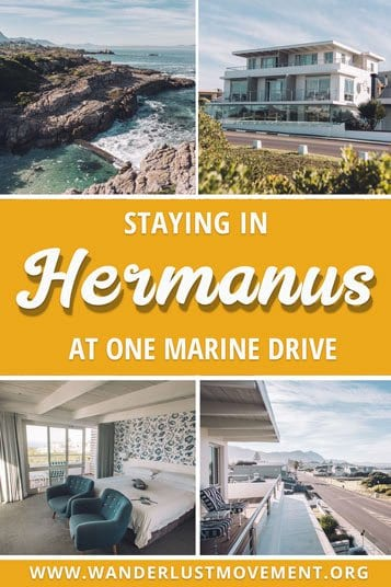 One Marine Drive is a beautiful five-star hotel in Hermanus, South Africa. It's the best place to stay for a weekend of luxury, whales watching & wine! You'll be mere footsteps from the famous Cliff Path and if you visit between July and October, you'll be able to see whales swimming past from your balcony! | Hermanus where to stay | Hermanus things to do | #southafrica #hermanus