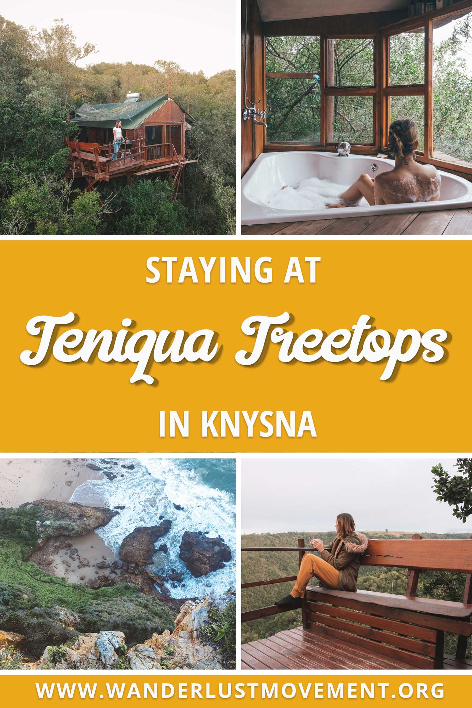 Teniqua Treetops is an eco-lodge in the heart of Knysna\'s indigenous forest. It\'s the perfect getaway if you love nature and a must-visit if you\'re planning a Garden Route road trip! Knysna South Africa | Knysna Accommodation | Eco Travel Destinations #knysna #southafrica #gardenroute #travel #ecotravel