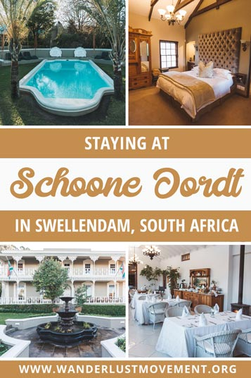 Schoone Oordt is a gorgeous Victorian Era manor house in Swellendam. It's one of my favourite luxury stays in South Africa and is the perfect pit stop if you're planning a Garden Route itinerary or you want to visit Cape Agulhas, the Southernmost Tip of Africa.