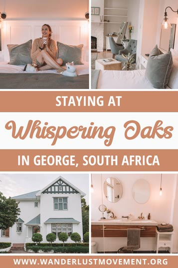 Whispering Oaks Guesthouse is located in George, South Africa. It's one of the best places to stay if you're planning a Garden Route road trip.