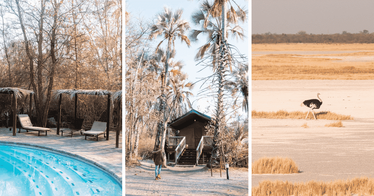 Staying at Nata Lodge in Botswana