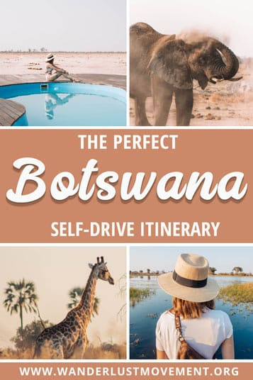 Want to see the best of Botswana with your 4x4? Call off the search! Here's a Botswana itinerary that will take you past all the highlights!
