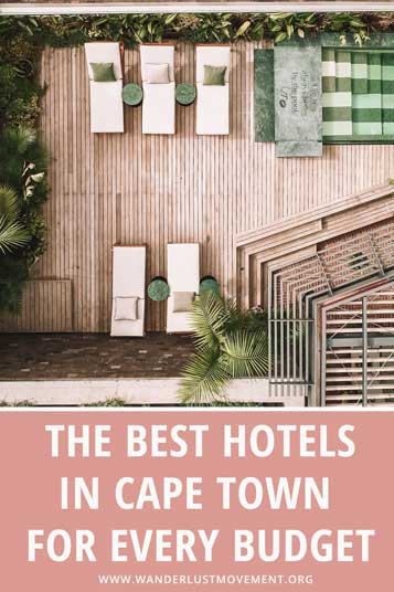 Not sure where to stay in CPT? Here are some of the best hotels in Cape Town from luxurious getaways to boutique stays and budget breaks!