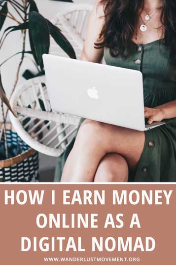 Curious about digital nomads make money online? I'm breaking down the top five ways I earn money as a full-time digital nomad!