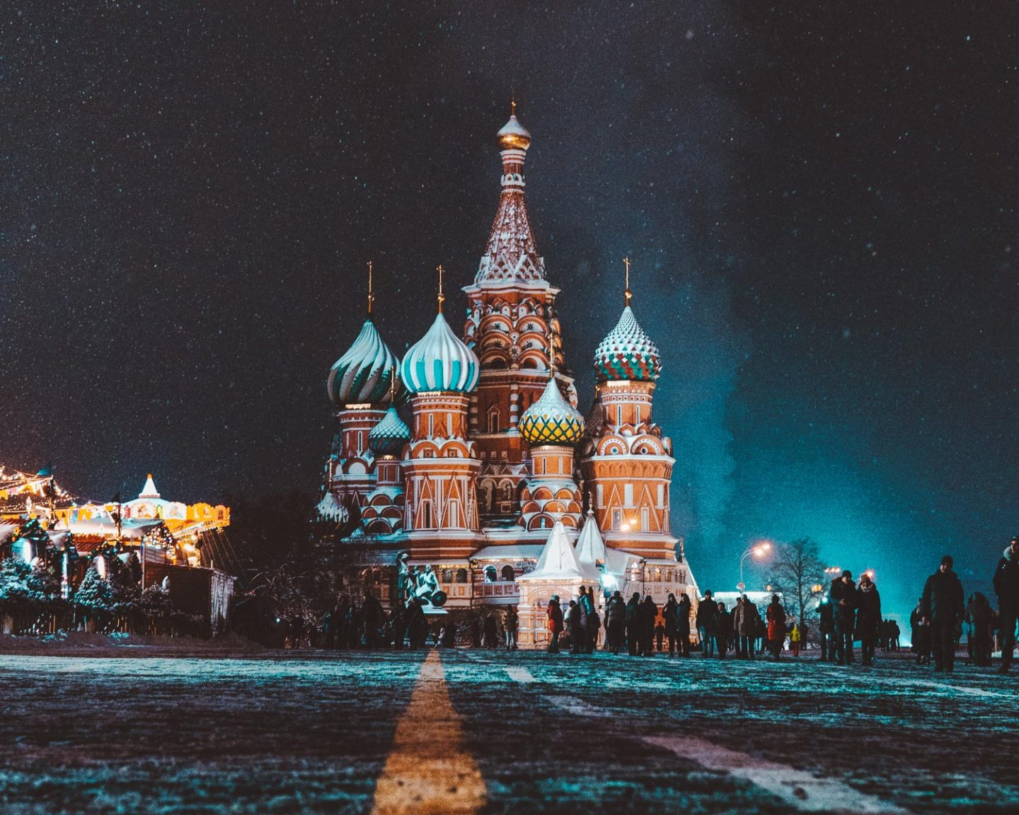 Saint Basil's Cathedral in russia