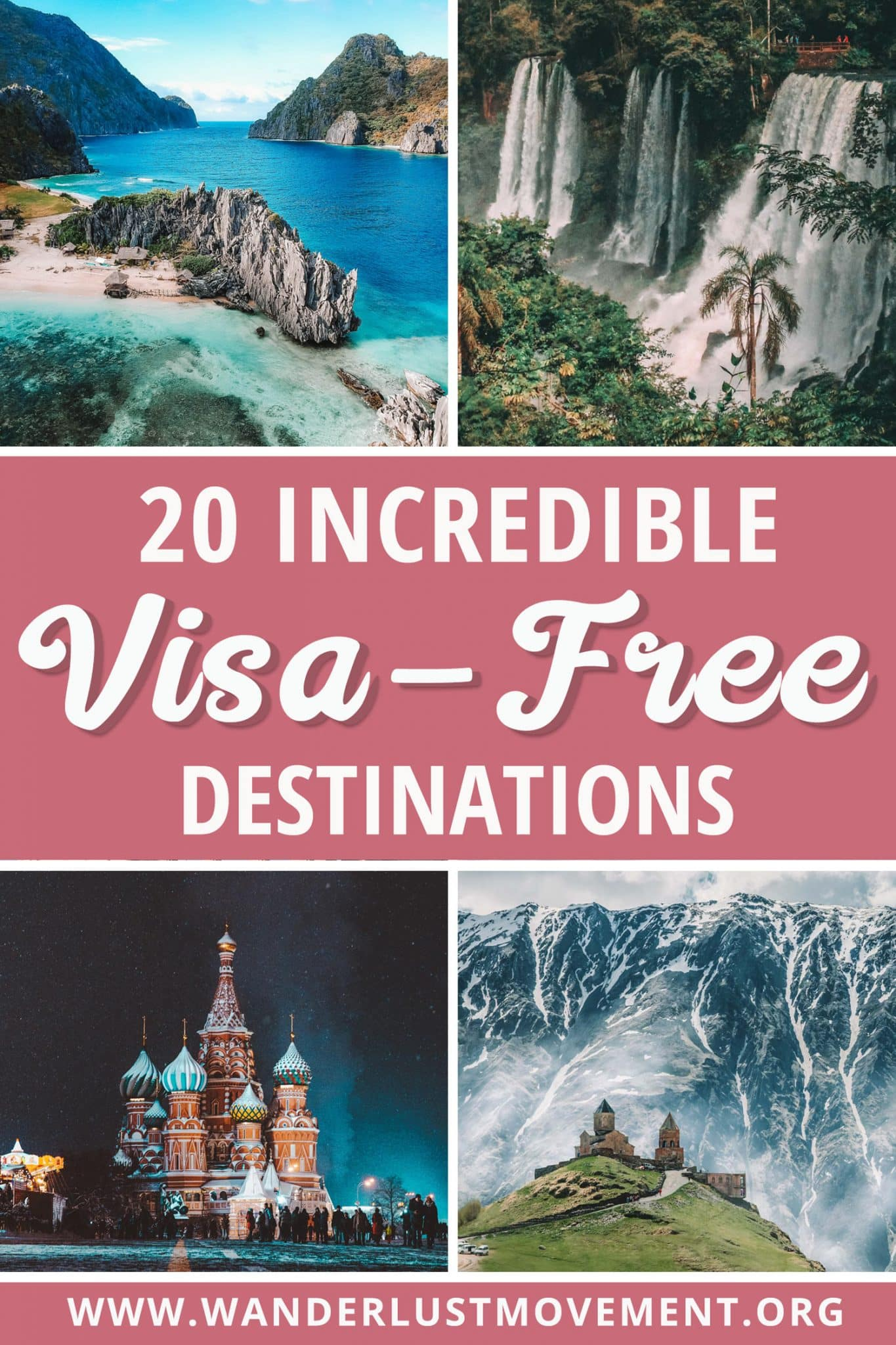 Ditch the annoying visa appointments in 2020. Here are 20 incredible visa-free countries for South Africans to inspire your travels! Travel to far-flung destinations like Russia and Georgia or explore some of Africa\'s top destinations such as Reunion Island, Namibia, Botswana and stay on an uninhabited island in the middle of Lake Malawi. #2020 #travel #visa-free #travelinspiration