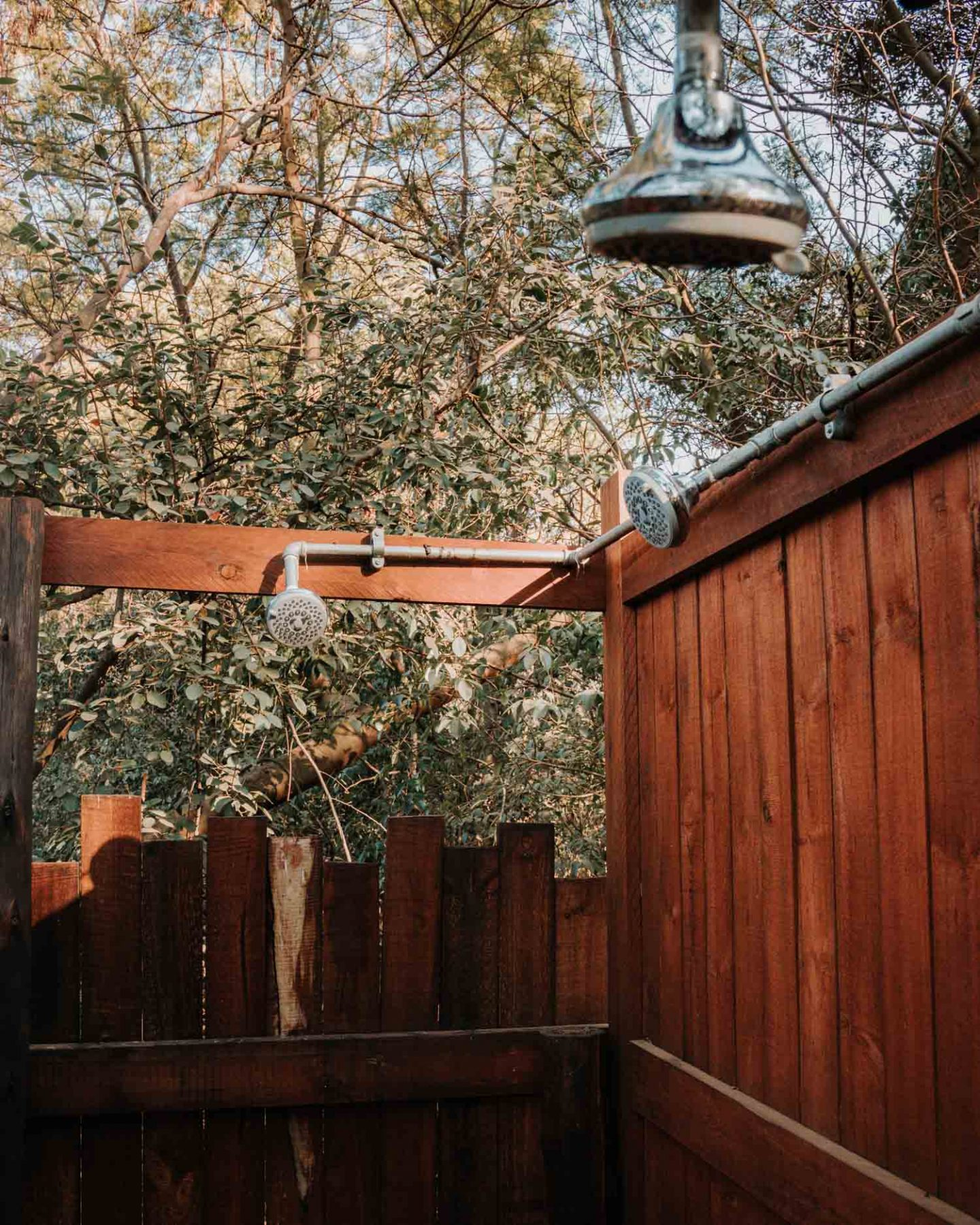outdoor shower at rosemary hill