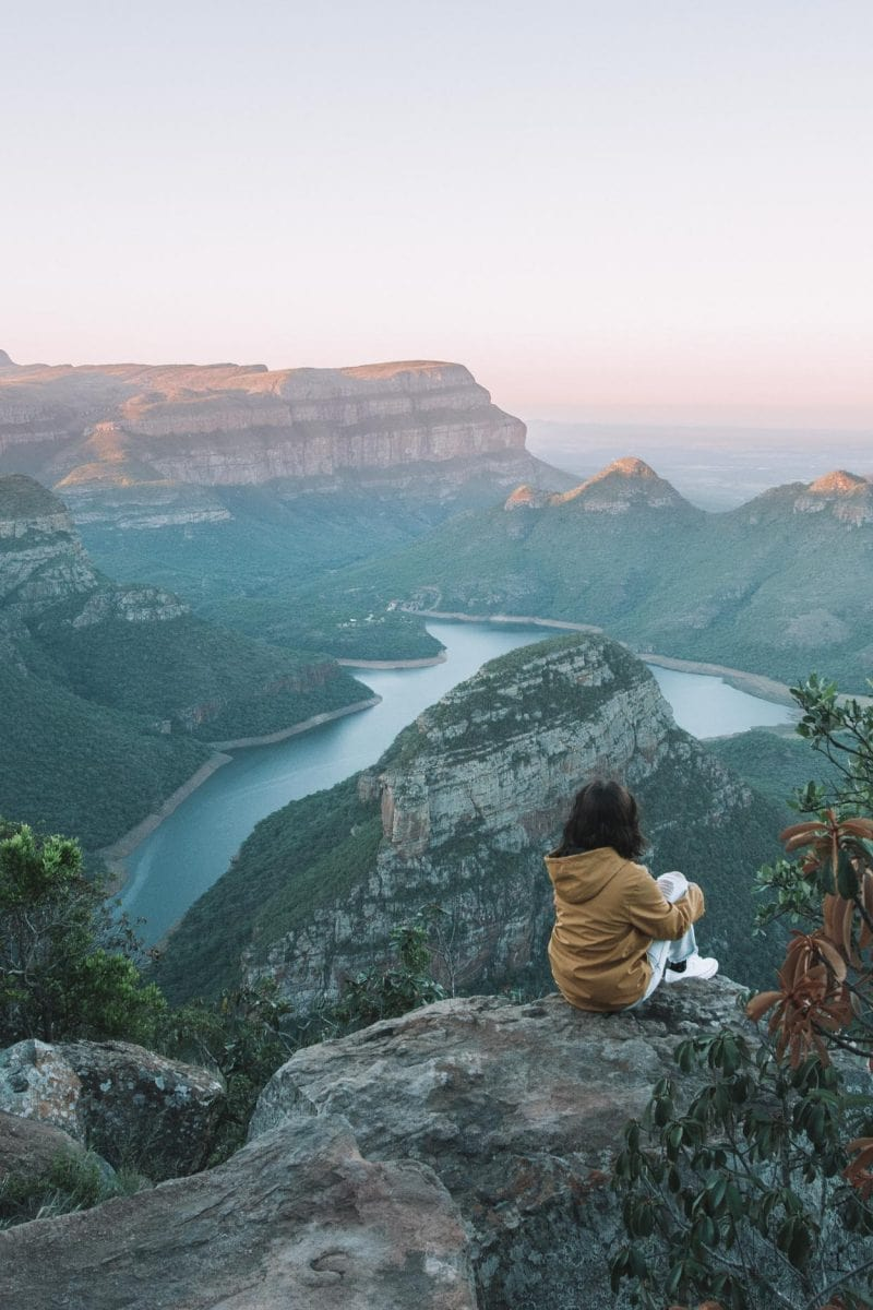 girl at blyde river canyon