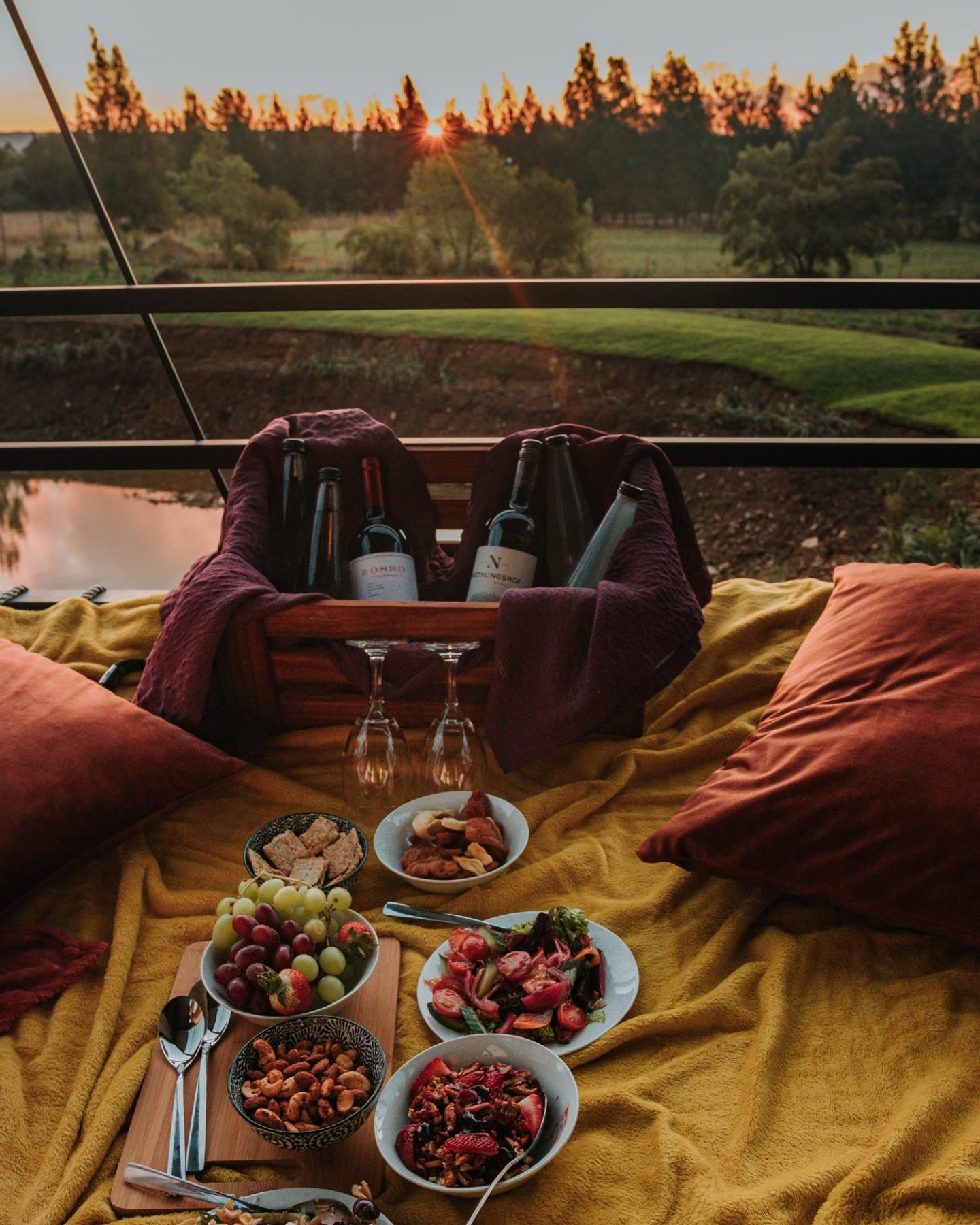 sunset picnic at rosemary hill farm