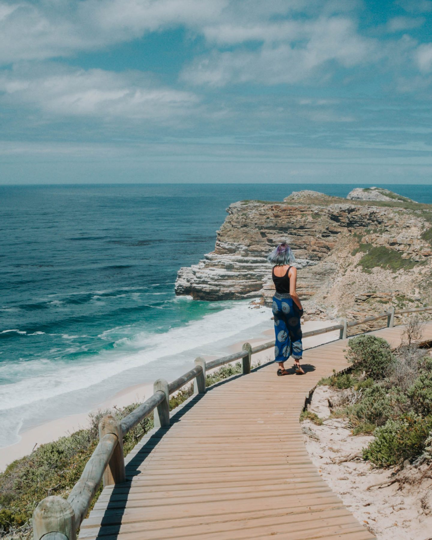 girl at cape point