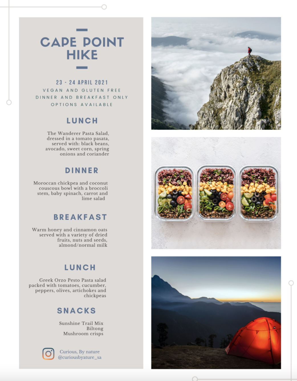 cape point meal plan